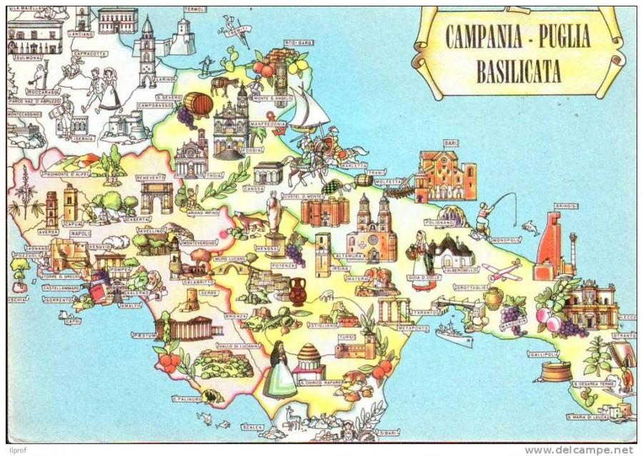 Mappa Puglia E Basilicata.Tutti A Tavola Tra La Puglia E La Basilicata