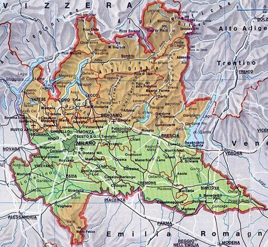 Cartina Lombardia Da Stampare.Tutti A Tavola La Lombardia E Servita